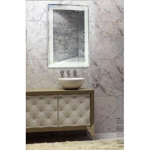 Зеркало в ванну с подсветкой лентой Изабелла