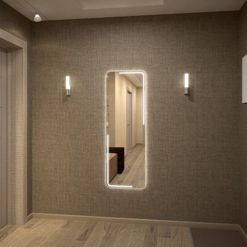 Зеркало с подсветкой в ванную Диана 40х70 см